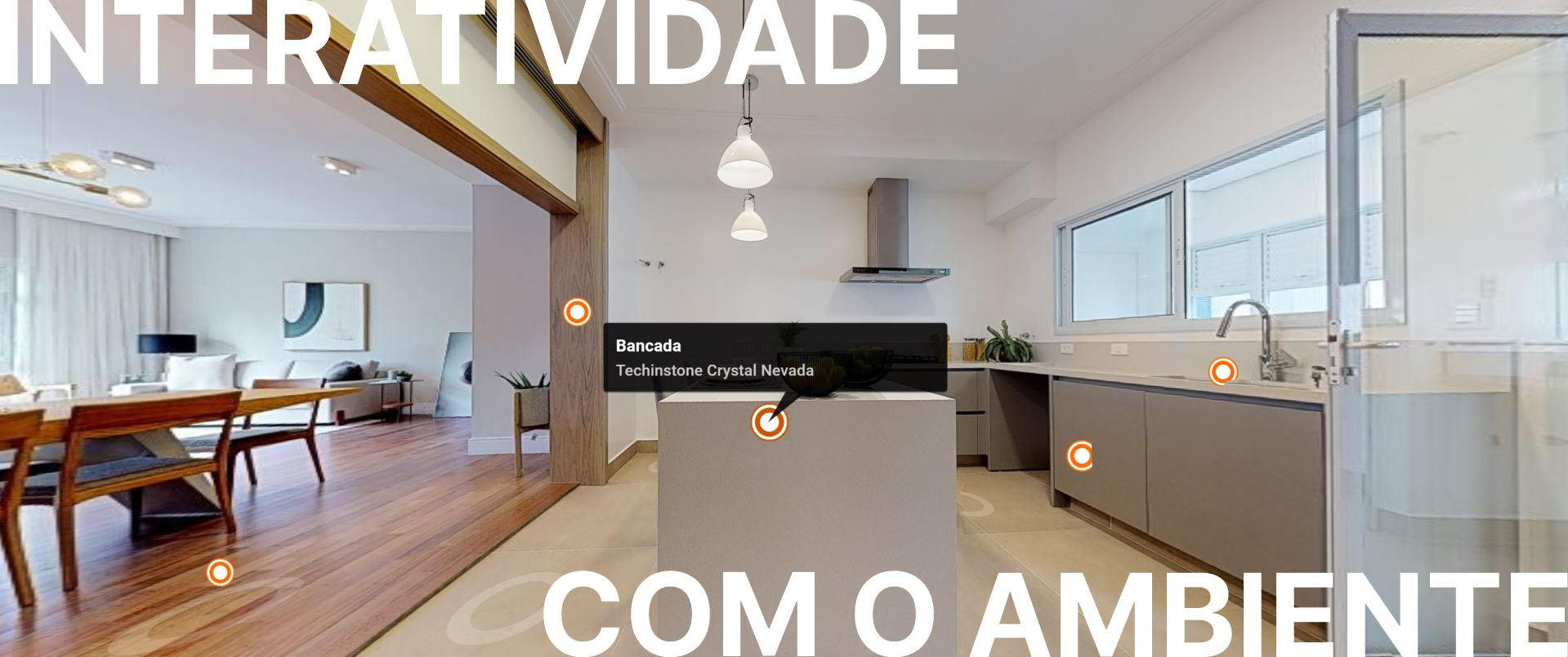 interatividade no tour virtual com video foto e informacao extra