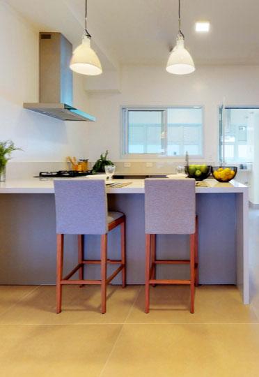 Imagem de cozinha americana fotografada pela Birdie