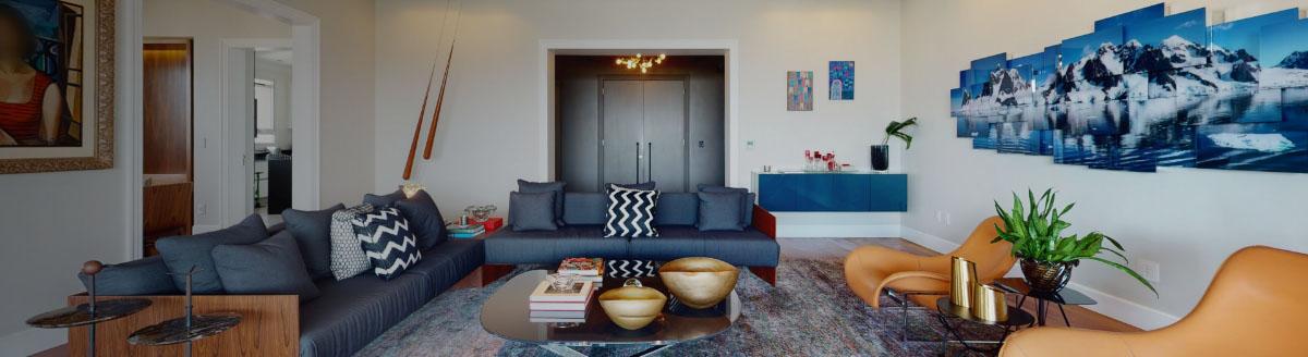 Foto de uma bela sala