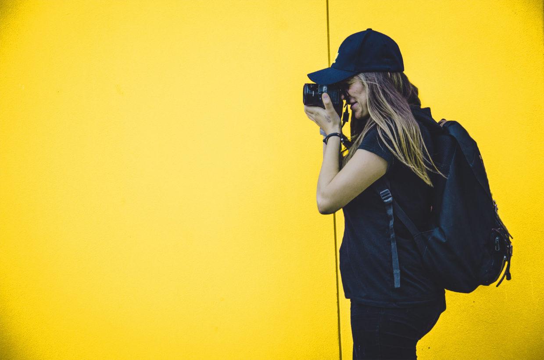 Imagem de uma fotógrafa