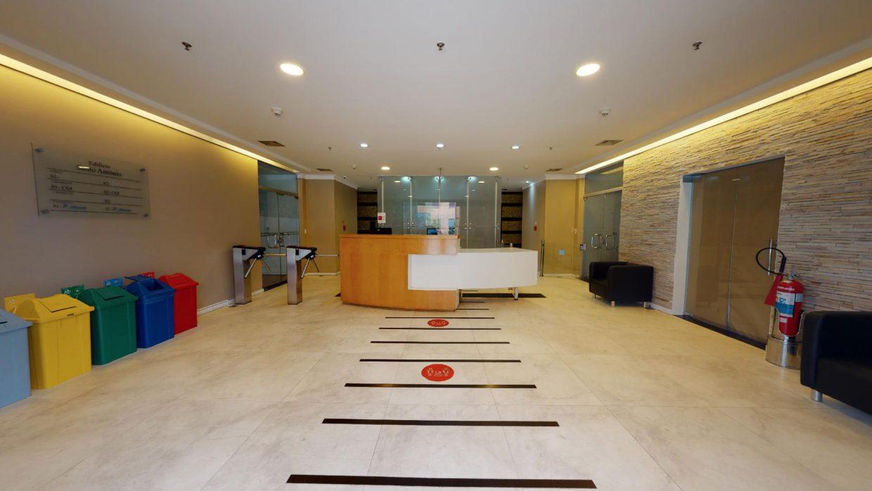 Lobby de edifício comercial em São Paulo